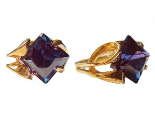 Золотое кольцо с александритом -