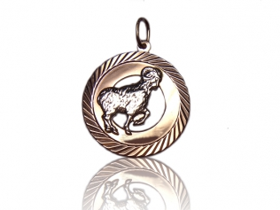 Золотой кулон овен