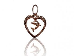 Золотой кулон в виде сердца