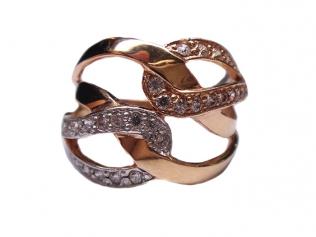 Золотое кольцо с цирконием -
