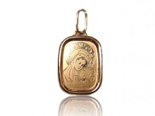 Золотой кулон иконка