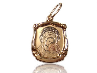 Золотой кулон иконка -