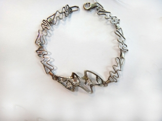 Серебряный браслет c цирконием