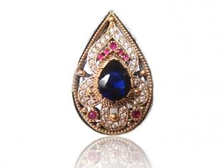 Серебряное кольцо с сапфиром