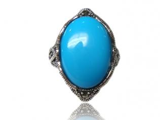 Серебряное кольцо с бирюзой -