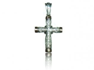 Серебряный крестик с фианитом