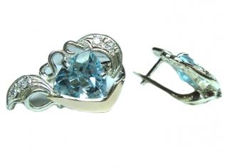 Серебряные серьги с топазом -
