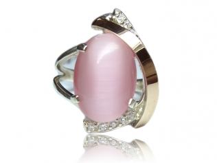 Серебряное кольцо с улекситом